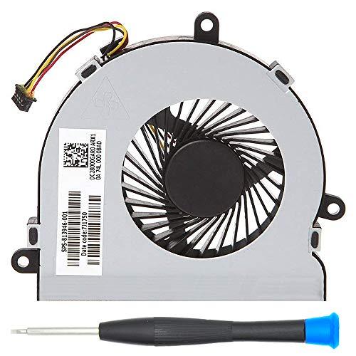 MMOBIEL Ventilador de refrigeración de la CPU del portátil 4 Pines 4 Cables de Repuesto para el HP 250 G4 255 G4 portátil 15-AC Serie DC28000GAR0 SPS-813946-001 Incluye (+) Destornillador