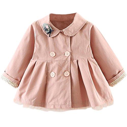 Huhu833 Baby Mantel,Kinder Baby Mädchen Herbst Winter mit Kapuze Mantel Mantel Jacke Starke warme Kleidung