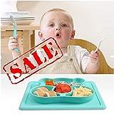 Set de table KeepingcooX pour enfant et assiette d'aspiration divisée avec cuillère. Set d'alimentation pour enfants et bebés heureux