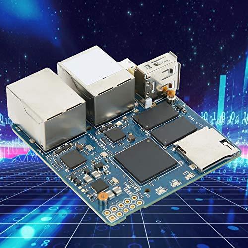 Jeanoko Placa de alimentación Módulo de alimentación Módulo Dual Gigabit CPU Accesorio eléctrico Puerto de Red para 1GB DDR4 Memoria RAM para R2S