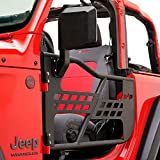 EAG Safari Tubular Door Black with Side View Mirror Fit for 18-21 Wrangler JL 2 Door