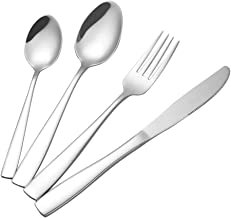 Asking 32-Piece Stainless Steel Cutlery Flatware, Service for 8