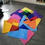 Tappeto, colore irregolare Super morbido alta qualità tappeti Creativo Fatto a mano rug Moderno Elegante Domestico sedia for computer mat (Size : 140 * 200cm)