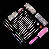 No se oxida Kit de herramientas de manicura, materiales delicados y suaves de alta calidad Kit de decoración de uñas, tienda de manicura Salón Tienda para salón de belleza en casa