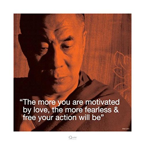 Dalai Lama Quote Inspirational (Motivational) Poster Print 16x16