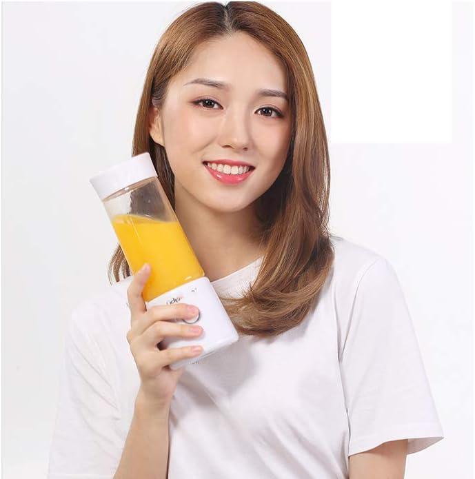 Exprimidor portátil KOKO Carga doméstica Mini taza de jugo de estudiante eléctrica Carga Exprimidor portátil Tritan Biberón Material-Pink White
