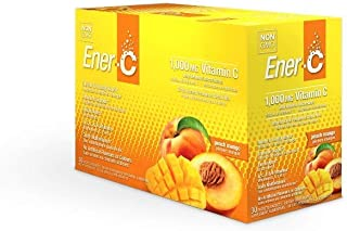 Ener-C - Natural Vitamin C 1000mg Immune Support, Drink Mix Powder Packets With Electrolytes For Hydration, Peach Mango, 3...
