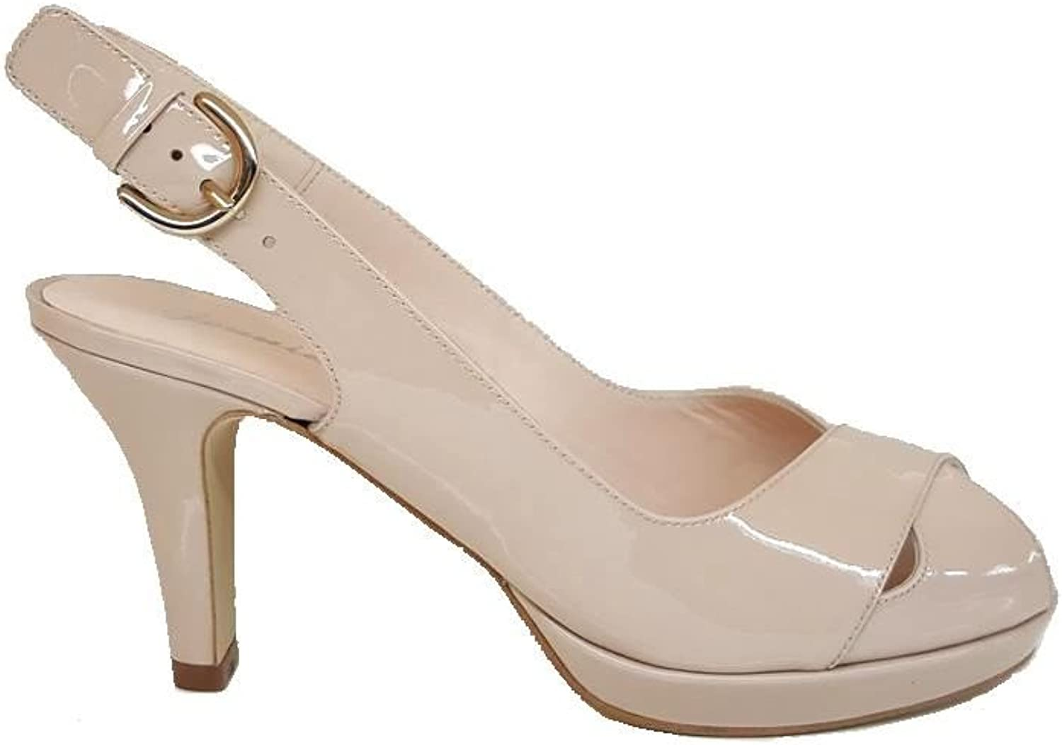 GENNIA ICADENASIN. - Women Leather Sandals Open Toe and Slingback with Platform