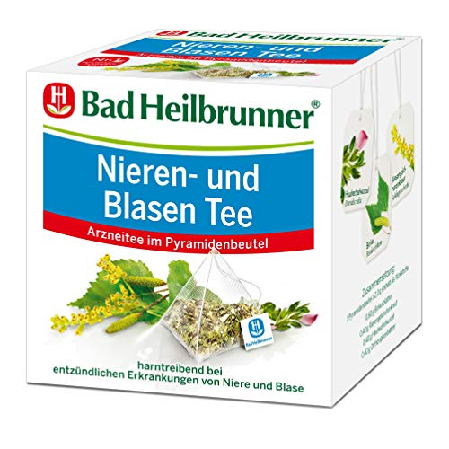 Bad Heilbrunner Nieren- und Blasen Tee im Pyramidenbeutel, 6er Pack (6 x 15 Pyramidenbeutel)