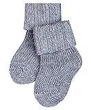 FALKE Unisex Baby Flausch B SO Socken, Blickdicht, Grau (Light Grey 3400), 74-80