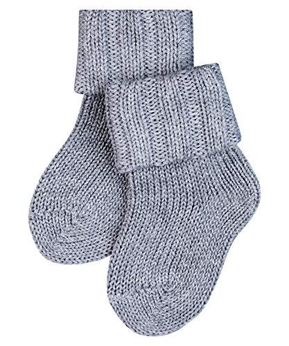 FALKE Unisex Baby Flausch B SO Socken, Blickdicht, Grau (Light Grey 3400), 80-92