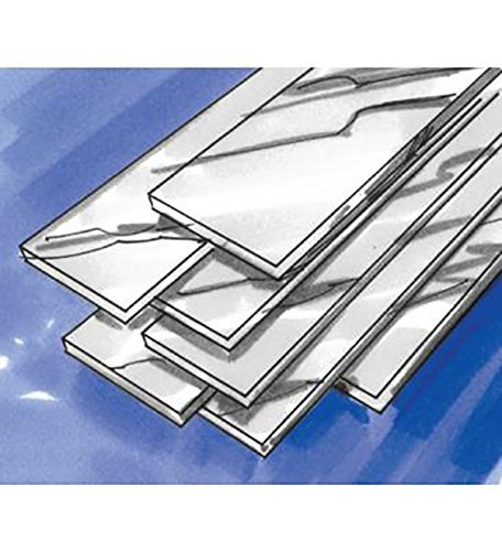 """6""""x1"""" Solid Fine.999 Silver Sheet From 28 Gauge Dead Soft, Made in USA"""