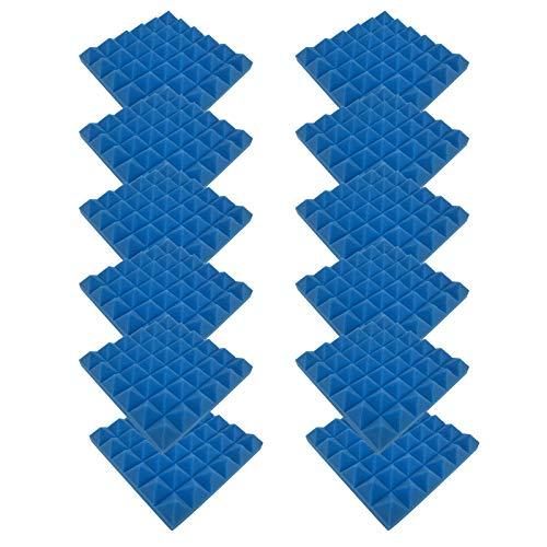 4444 12PC Schallabsorbierende Schaumwand, Schallabsorbierende Baumwolle Für Den Innenbereich Fliesen Dämmung Wanddeko Pyramiden Noppenschaumstoff Breitbandabsorber Decke Foam Feuerhemmend H41