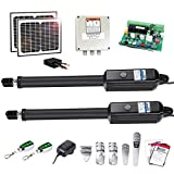 TOPENS AD8S Automatic Gate Opener Kit Heavy Duty Solar Dual Gate Operator for Dual Swing Gates Up to 18 Feet or 850...