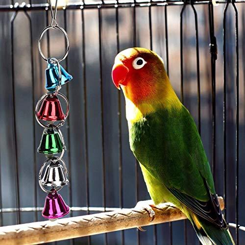 AMONIDA Juguete plástico no tóxico para pájaros, Juguete para Masticar pájaros Seguro, para Columpio Colgante