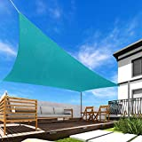 Windscreen4less 18' x 18' Square Sun Shade Sail - Solid Turquoise Durable UV Shelter Canopy for Patio Outdoor Backyard 4 Pad Eyes Included - Custom Size
