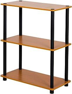 JJL Estantería Estantería de madera y metal de 3 niveles Estantería industrial Exhibidor de oficina Estante de almacenamiento multifuncional Muebles para entrada Sala de estar Dormitorio Oficina en ca