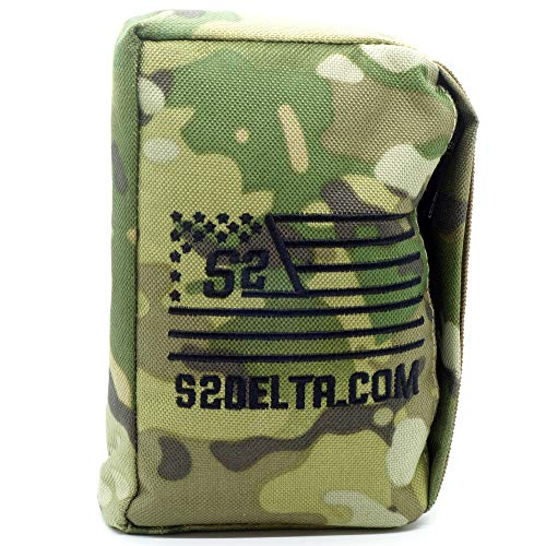 S2Delta Tactical Rear Squeeze Bag, Shooting Rest, Rifle Rest, Long Range Shooting Rest, PRS Precision, Medium Barricade Bag, (Camo, 1lb)