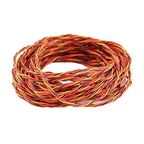 OliYin 32 Füße 22AWG 60cores Twisted Servo führen Servo erweitertes Kabel verdrillten Draht für JR Servo Extension