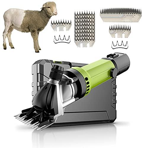 EnweOil Esquiladora para Ovejas Eléctrica Máquina de Esquilar Ovejas, Cortapelos Eléctrico Profesional para Ovejas Alpacas Cabras con Control de 6 Velocidades, Orificio de llenado de Aceite