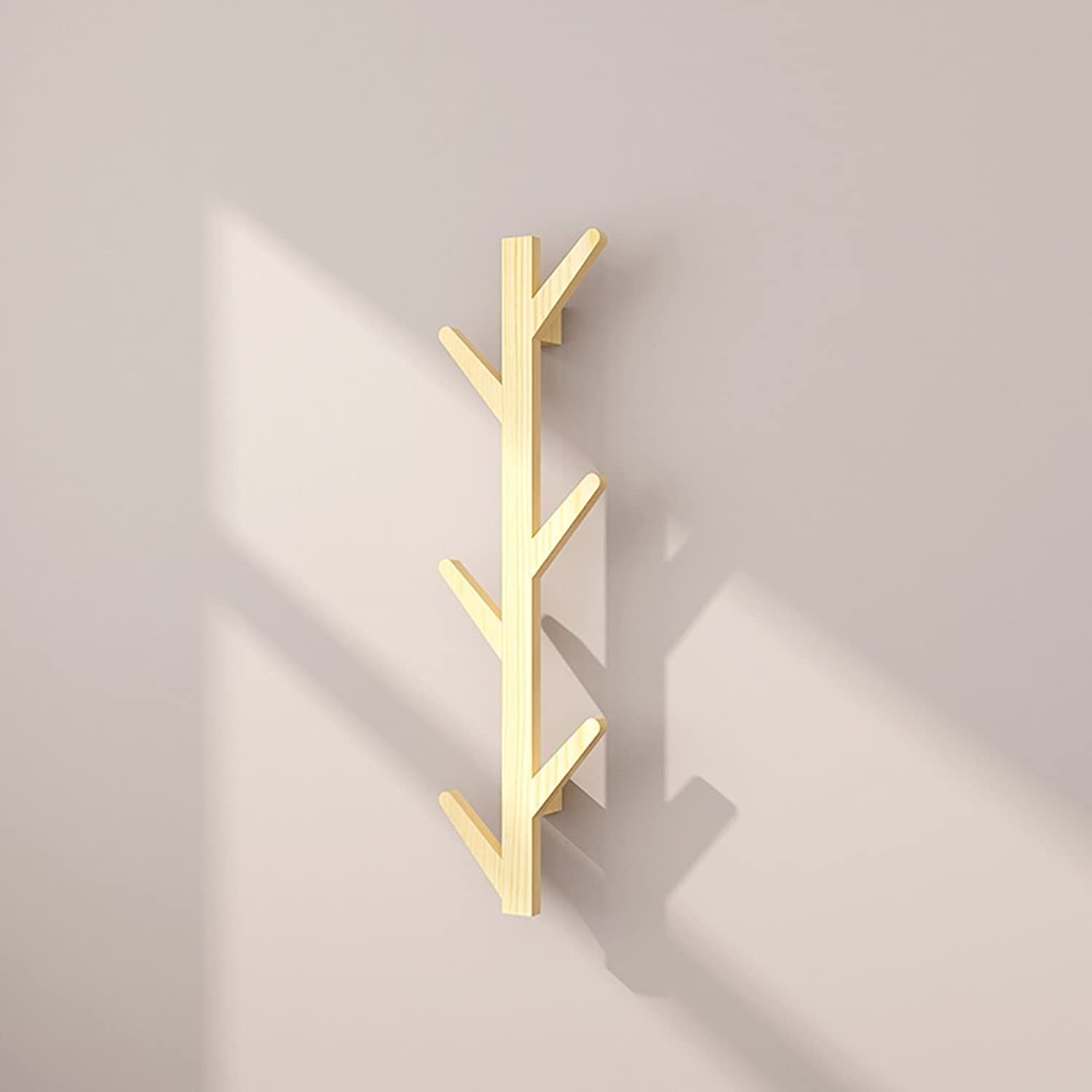 Wall-Mounted Coat Racks, Wall-Hung Coat Hooks, Bedroom Living Room Entrance Creativitysimple Modern Solid Wood Wall-Mounted Coat Racks.