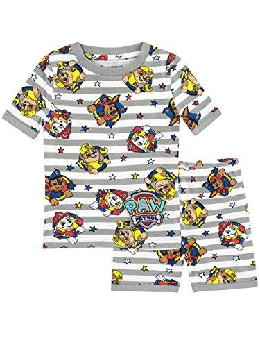 Paw Patrol Pijamas de Manga Corta para Niños La Patrulla Canina Ajuste Ceñido Multicolor 4-5 Años