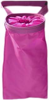 Vi.yo Auto Mülleimer wasserdicht Abfalltasche Rücksitz Organizer Faltbar Abfalleimer Mülltonne Wiederverwendbare abfallbehälter Rose rot