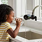 PUR PFM100B Faucet Water Filtration System, Horizontal, Black 14 PUR ADVANCED FAUCET WATER FILTER:PUR Advanced Faucet Filter in Chrome attaches to your sink faucet, for easy, quick access to cleaner, great-tasting filtered water. A CleanSensor Monitor displays filter status, so you know when it needs replacement. Dimensions: 6.75 W x 2.875 H x 5.25 L FAUCET WATER FILTER: PUR's MineralClear faucet filters are certified to reduce over 70 contaminants, including 99% of lead, so you know you're drinking cleaner, great-tasting water. They provide 100 gallons of filtered water, or 2-3 months of typical use WHY FILTER WATER? Home tap water may look clean, but may contain potentially harmful pollutants & contaminants picked up on its journey through old pipes. PUR water filters, faucet filtration systems & water filter pitchers reduce these contaminants