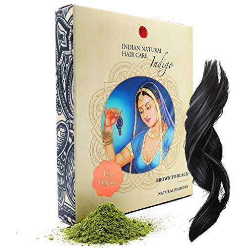 Indigo Powder - Brown to Black Hair Dye - Fresh & Pure Organic - 7oz - Indian Natural Hair Care