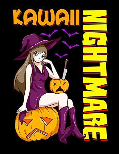 "Kawaii Nightmare: Kawaii Nightmare Halloween Anime Girl Blank Sketchbook to Draw and Paint (110 Empty Pages, 8.5"" x 11"")"