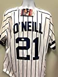 Paul O'Neill New York Yankees Signed Autograph White Pin Custom Jersey JSA Witnessed Certified