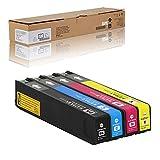Cartucho de tinta 970XL compatible con HP X451dw X551dw X476dw Officejet Pro X576dw MFP, 9200 páginas en negro, 6600 páginas en color (5% de cobertura de papel A4), 4 piezas
