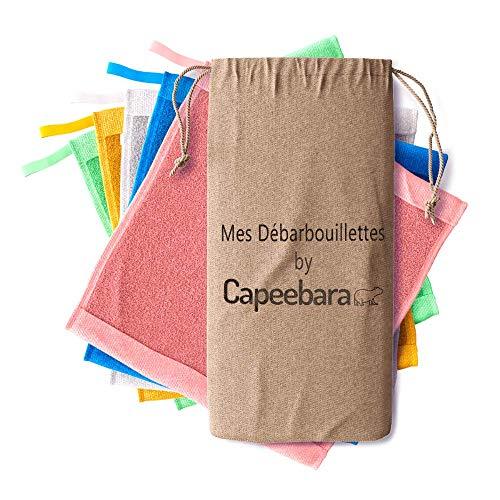 Capeebara - Essuie Tout Lavable - Débarbouillettes - 100% Bambou - (X5)