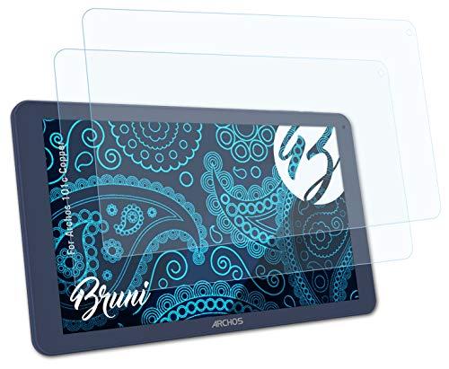 Bruni Schutzfolie kompatibel mit Archos 101c Copper Folie, glasklare Bildschirmschutzfolie (2X)