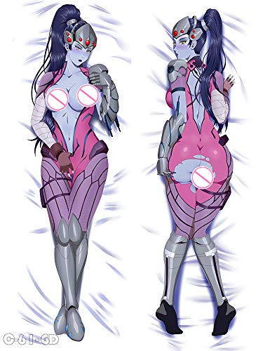 Floralcraft Widowmaker Overwatch Peach Skin 150cm(59in) Pillowcases Anime Girl Hugging Body Pillow Case Cover