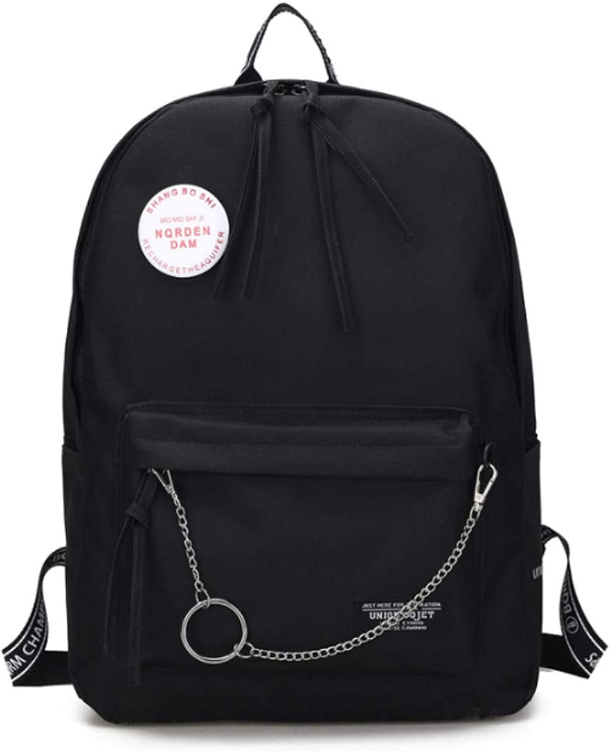 Student Female Korean Version of The Personality Nylon Canvas Bag Casual Wild Backpack