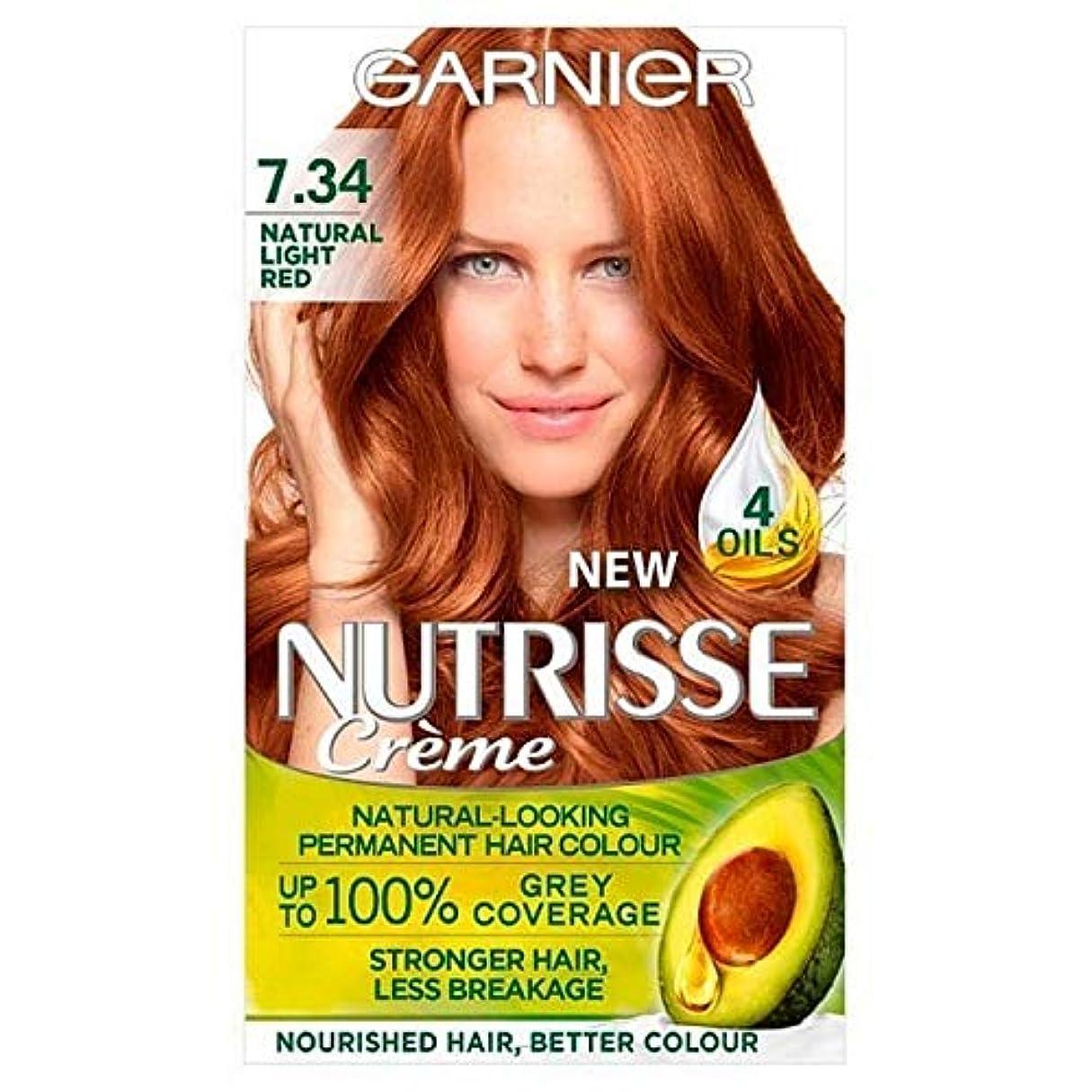 シェア三レベル[Garnier ] 7.34光の自然な赤ガルニエNutrisseパーマネントヘアダイ - Garnier Nutrisse Permanent Hair Dye Light Natural Red 7.34 [並行輸入品]