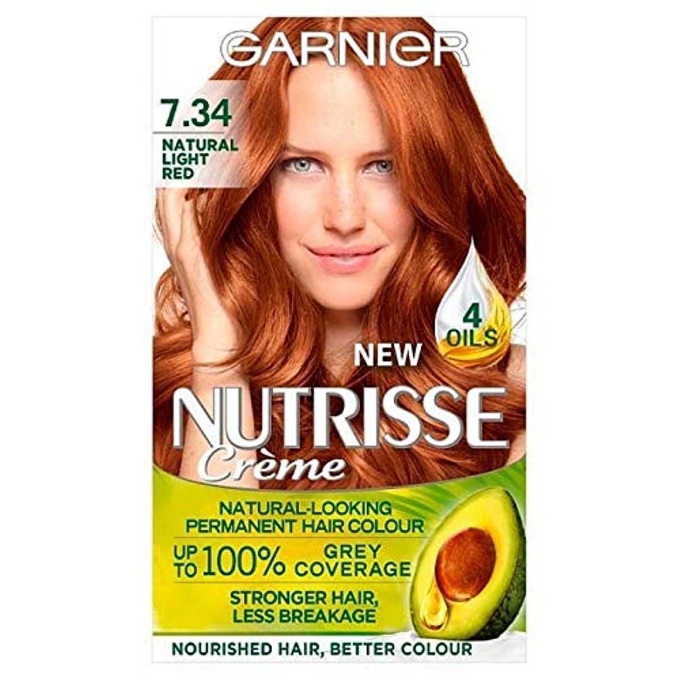 記念懐軍艦[Garnier ] 7.34光の自然な赤ガルニエNutrisseパーマネントヘアダイ - Garnier Nutrisse Permanent Hair Dye Light Natural Red 7.34 [並行輸入品]