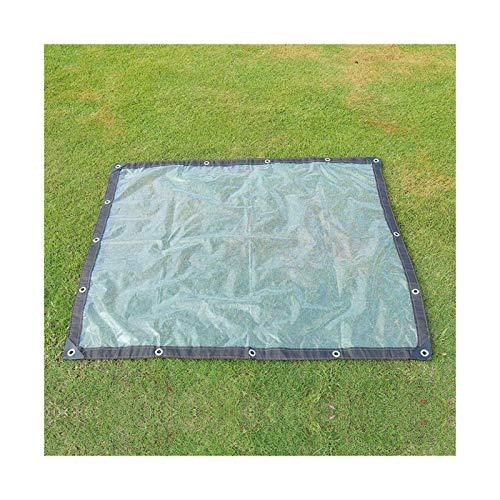 Glass Clear Tarpaulin Tarpaulin Lightweight Waterproof Clear Windshield Tarpaulin With Eyelets, Base Sheet Cover Sun Protection Balcony Plastic Cloth (Color : Clear, Size : 6x8m)