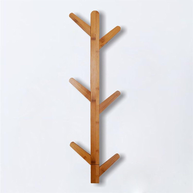 Simple Hangers Wall Hanging Shelf Bedroom Living Room Bamboo Multifunction Coat Rack (Size 22678CM),A,22678CM