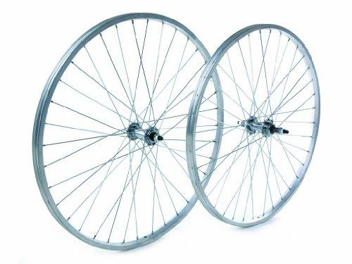 Tru-build Wheels RGR809 - Rueda Trasera para Bicicleta (26 Pulgadas), Color Plateado
