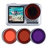 ULANZI OA-9 3er Pack OSMO Action Diving Filter für DJI Osmo Action Kamera Zubehör Super Suit...