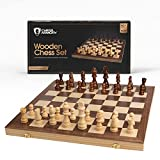 ♕ ESSENTIAL CHESS SET WOOD: Looking for a classy chess sets? Chess Armory wooden chess set delivers all the chess essentials in one place - a folding chess board, polished chess pieces, and a sturdy storage box. ♕ INLAID WALNUT CHESS BOARD: The compa...