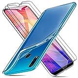 Funda para Xiaomi Redmi Note 7 + 2 X Protectores de Pantalla in Cristal Templado, Carcasa Silicona Transparente Protector Suave TPU Ultra Fino Anti-Rasguño Anti-Golpes Case Caso