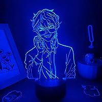 男の子のための3Dナイトライト、ミスティック&メッセンジャーゲームフィギュア7つのルシエルランプがRGBを導きました友人のためのネオンベッドルームテーブル誕生日プレゼントのためのカラフルな装飾