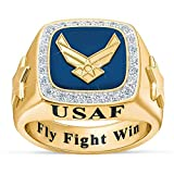 Personalized U.S. Military Ring (Air Force, 16) #1660-012