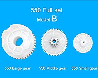 WEELYE 550 Full Set of Motor Gear Box Large Gear Middle Gear Small Gear for Kids Ride On Car,Children's Toy Car 550 Gearbox Accessory Children Electric Ride on Toys Replacement Parts