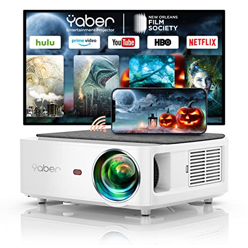 YABER 5G WiFi Bluetooth Projector 9000L Upgrade Full HD Native 1920×1080P Projector, 4P/4D Keystone Support 4k&Zoom, Portable Wireless LCD LED...