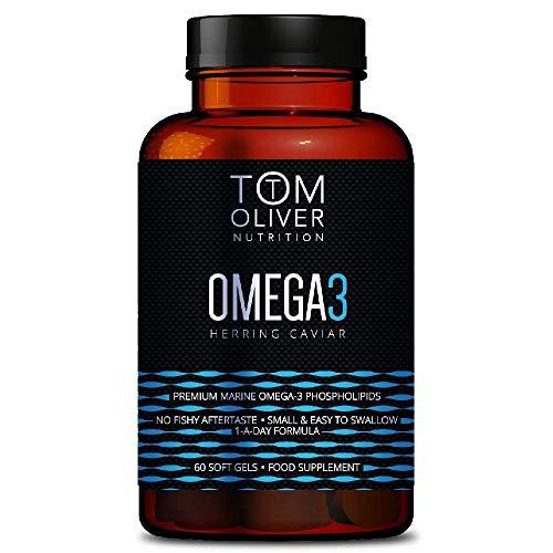 Tom Oliver Nutrition | Omega 3 Herring Caviar | Premium Marine Omega 3 Phospholipids | High in EPA and DHA