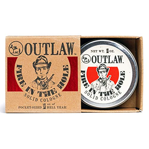 Outlaw Fire in the Hole Campfire Solid Cologne - Explosively Awesome Cologne - Campfire, Gunpowder,...